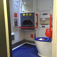 The amazing bathroom in the train.